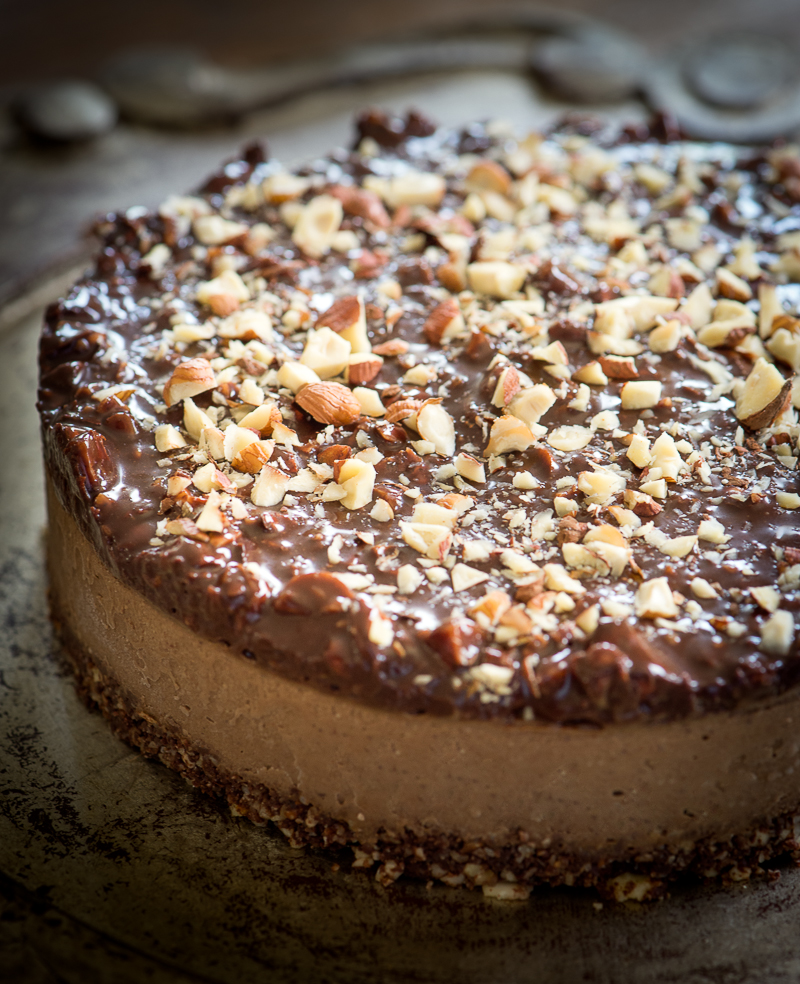 Chocolate Espresso Hazelnut Frozen Torte by Rawmazing