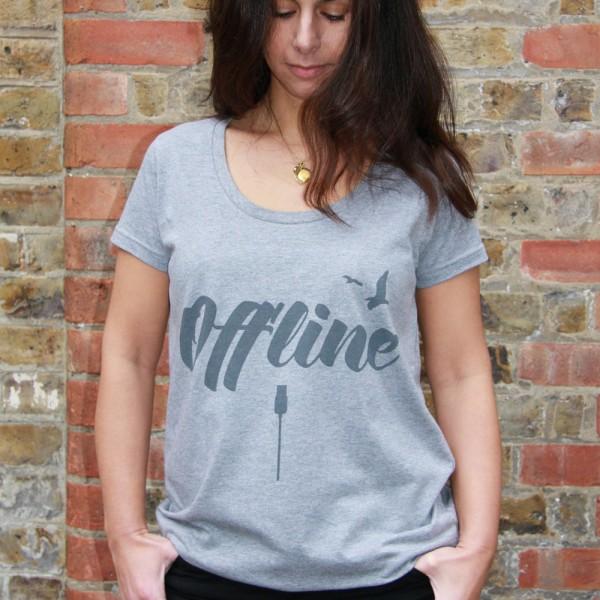 'Offline' T-Shirt, Women's