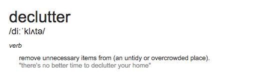 define declutter