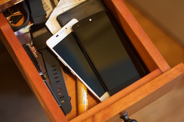 smartphone in drawer