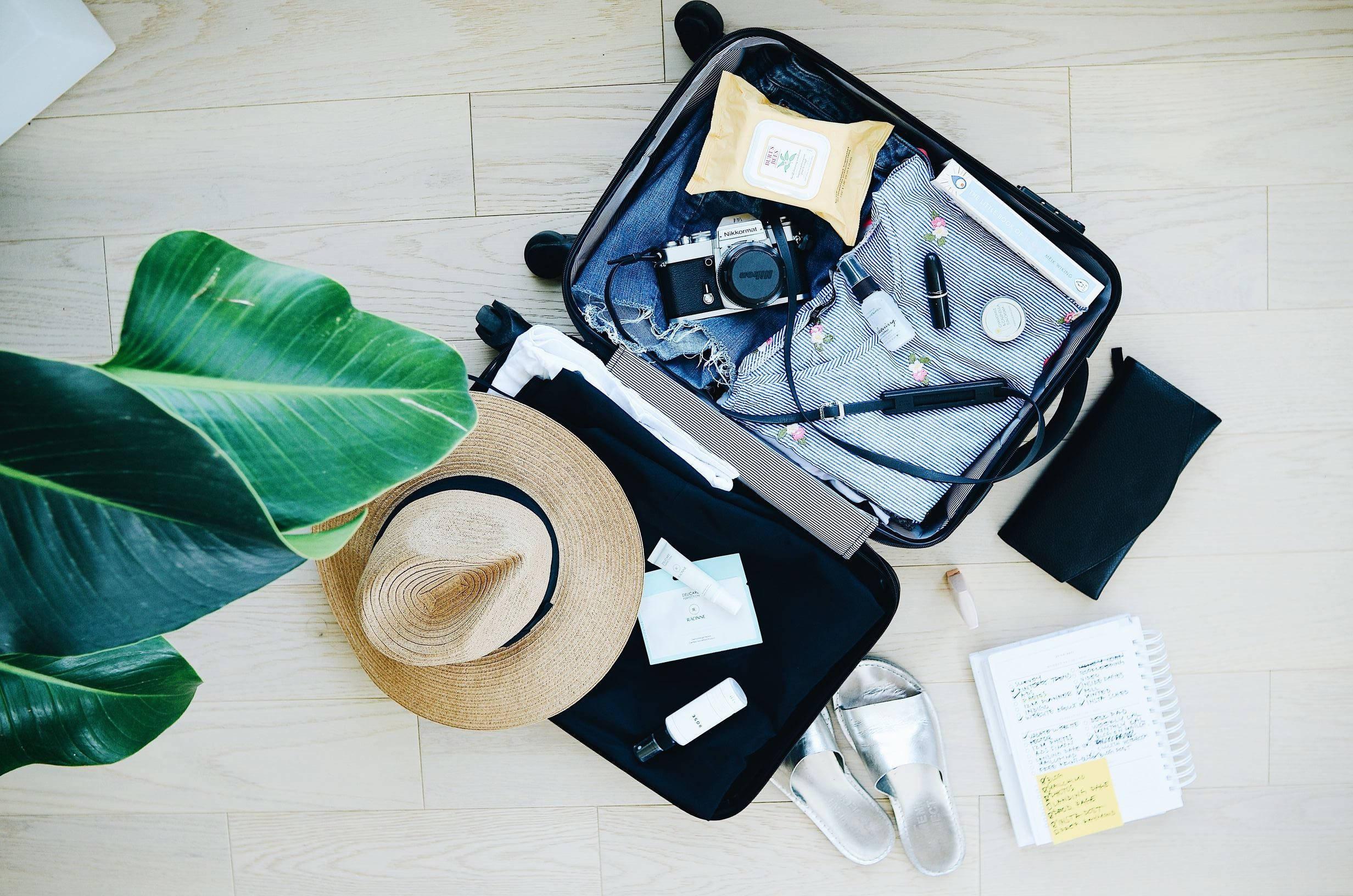 Mindful travel: holiday suitcase