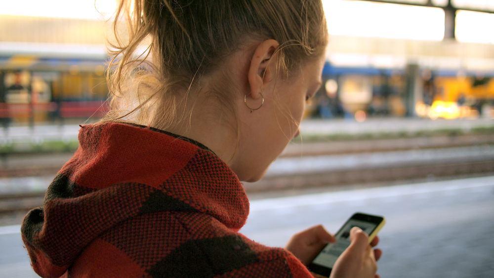 Girl phone scrolling