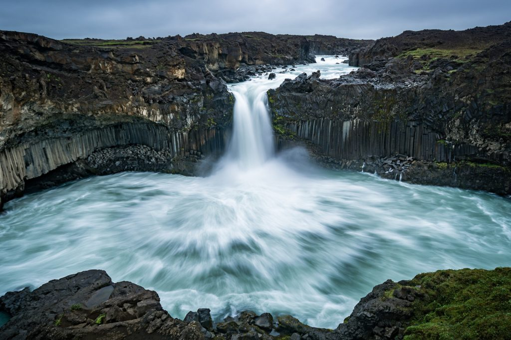 waterfalls on digital detox retreat Iceland